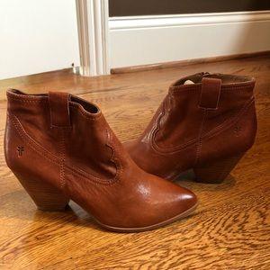 Frye women's boots cognac 8 medium